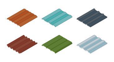 Vecteurs de tuiles de toit vecteur