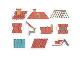 Vecteur d'icônes de toit