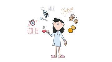 Vecteur gratuit de café du matin