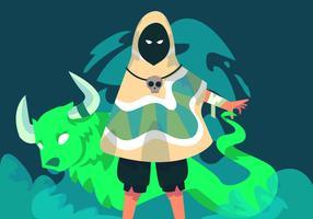 Vecteur de Shaman mystérieux