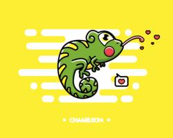 Vecteur gratuit de caméléon