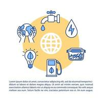 icône de concept de consommation responsable avec texte.