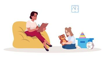 séance de thérapie pour enfants vecteur