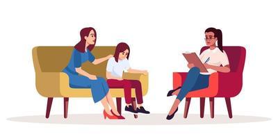 séance de psychothérapie familiale vecteur