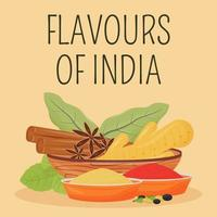 publication sur les médias sociaux des épices indiennes vecteur