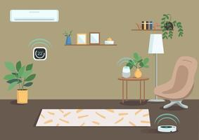 système d'appartement intelligent vecteur