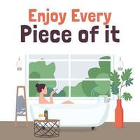 publication de médias sociaux de salle de bains intelligente vecteur