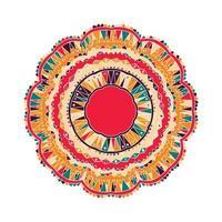 icône de mandala zentangle. vecteur