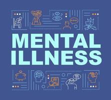 bannière de concepts de mot maladie mentale. troubles de la personnalité. vecteur