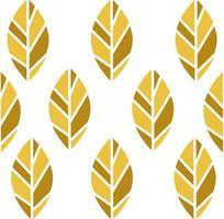 modèle sans couture de feuilles de nature or