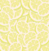 modèle sans couture de tranches de citron jaune vecteur