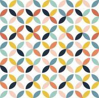 motif floral coloré abstrait vecteur