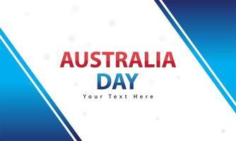 bannière de la journée australienne avec des formes bleues vecteur