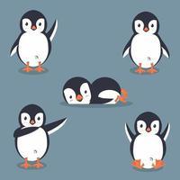collection de pingouins de dessin animé