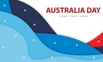 bannière de la journée australienne avec des formes ondulées vecteur