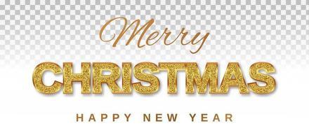 joyeux noël et bonne année texte doré