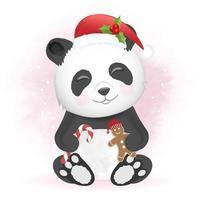 mignon panda avec biscuit de pain d'épice