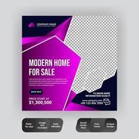 publication sur les médias sociaux de l'immobilier créatif