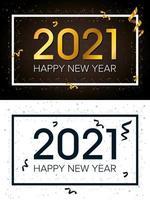 bonne année, jeu de cartes de célébration 2021