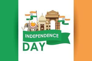 bannière de célébration de la fête de l'indépendance de l'inde