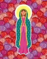 hypothèse miraculeuse de la vierge marie vecteur