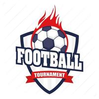 emblème de sports de football de football avec ballon