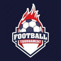 emblème de sports de football de football avec ballon vecteur