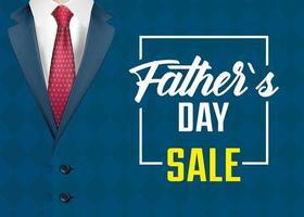bannière de vente fête des pères avec élégant costume masculin vecteur