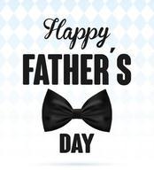 bannière de bonne fête des pères avec noeud papillon élégant