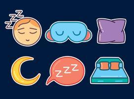 Vecteur de collection Bedtime coloré