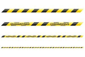 ensemble de bandes de sécurité à rayures vecteur