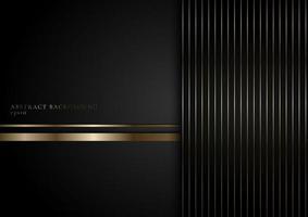 rayures abstraites lignes dorées sur fond noir vecteur