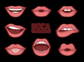 Femme Vecteurs de Boca vecteur