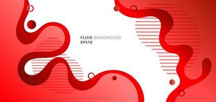 couleurs de dégradé rouge fluide ou liquide moderne abstraite