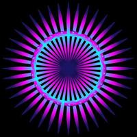 spirographe coloré violet abstrait sur fond noir