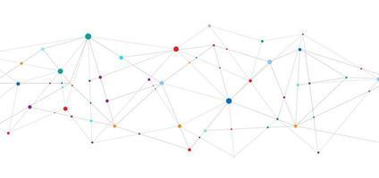 technologie connecter concept points et lignes de connexion géométriques