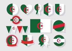 Vecteur de Badges d'Algérie