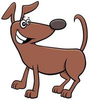 chien de dessin animé ou personnage animal chiot vecteur