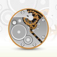 Illustration de mécanisme d'horloge analogique réaliste vecteur