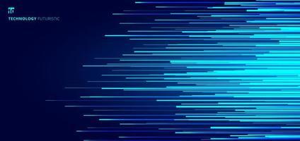 motif abstrait de lignes horizontales bleues brillantes vecteur