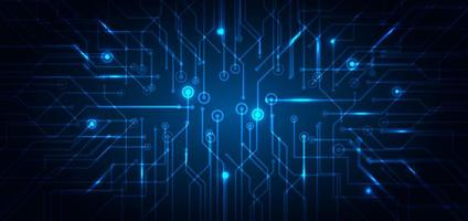 concept futuriste de technologie abstraite de circuit électronique bleu