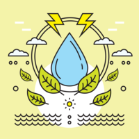 Vecteur de soin de l'eau