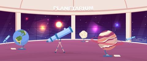 salle de planétarium vide vecteur