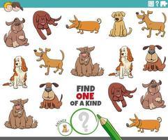 une tâche unique pour les enfants avec des chiens vecteur