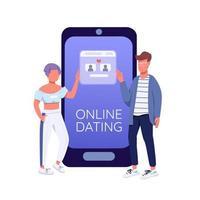 relation à distance publication sur les réseaux sociaux vecteur