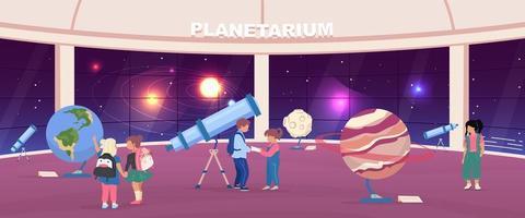 excursion scolaire au planétarium vecteur