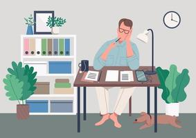 écrivain à la maison vecteur