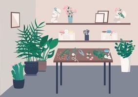 chambre studio fleuriste vecteur