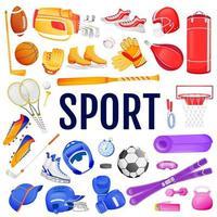 ensemble d & # 39; objets de sport vecteur