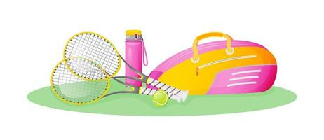 équipement de tennis rose vecteur